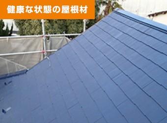 健康な状態の屋根材