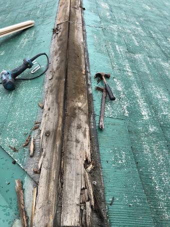 棟板金交換 貫板