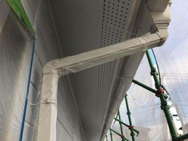 【宮崎県宮崎市】花山手にあるコロニアルの住宅で屋根をブラックに塗装しました!軒天上塗り_1_確定