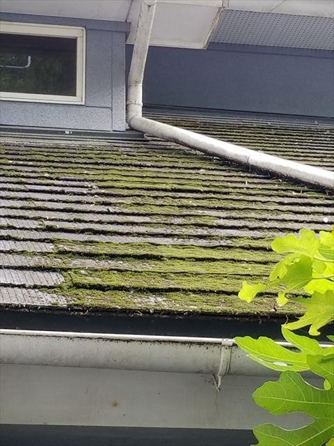 宮崎市清武町今泉。コロニアル屋根瓦カバー工法工事と外壁塗装。1日目です。