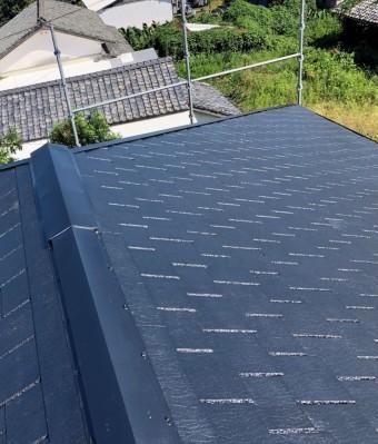 屋根上塗り 塗装