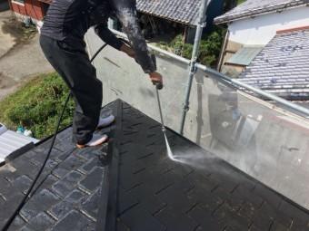高圧洗浄洗い流し 塗装