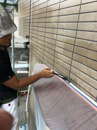 外壁下塗り クリヤー塗装