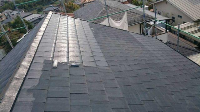 【宮崎県宮崎市】月見ヶ丘の住宅の148平方メートルある屋根を塗装していきます屋根下塗り_1_確定