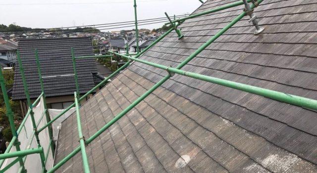 【宮崎県宮崎市】花山手にあるコロニアルの住宅で屋根をブラックに塗装しました!屋根下塗り_1_確定