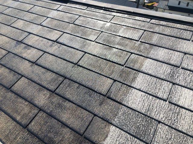 【宮崎県宮崎市】佐土原町においてFRP防水バルコニーがある住宅でコロニアル屋根を塗装しました!屋根下塗り_1_確定