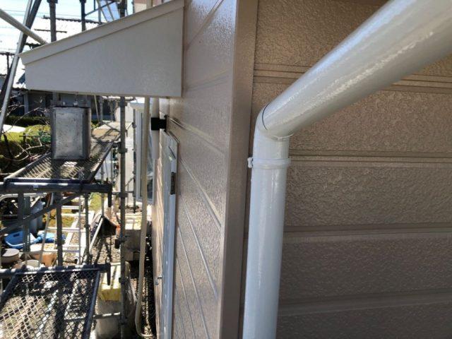 【宮崎県宮崎市】学園木花台にある薄いピンク色の住宅で屋根の補修や付帯部の塗装をおこないました!雨樋