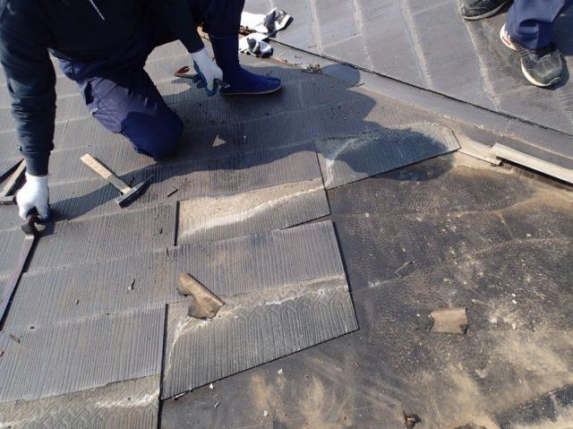 屋根張替工事の施工