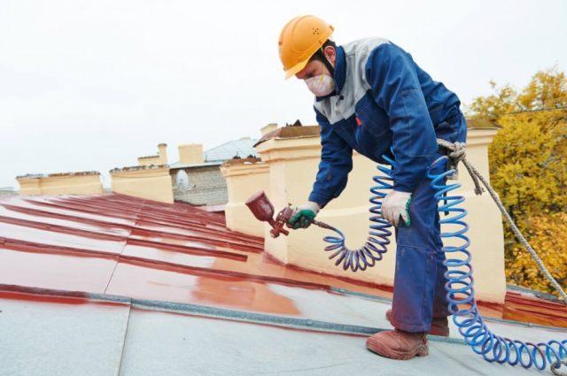 ガルバリウム鋼板屋根の塗装工事