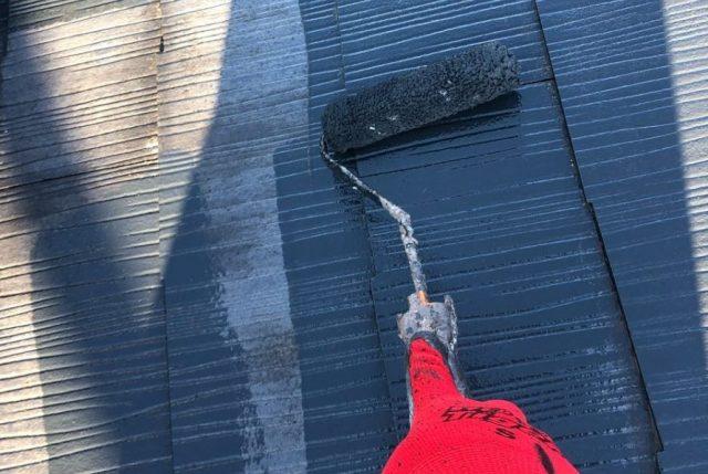 【宮崎県宮崎市】太田にある肌色の住宅で屋根塗装の下準備をおこないました!中塗り