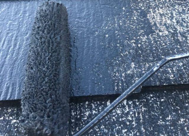 【宮崎県宮崎市】橘通西にあるALC外壁の住宅でコロニアル屋根を塗装しました!屋根中塗り_1_確定