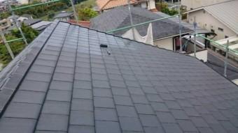 【宮崎県宮崎市】月見ヶ丘の住宅の148平方メートルある屋根を塗装していきます屋根中塗り_1_確定