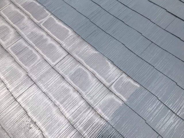 【宮崎県宮崎市】跡江にある39坪の住宅で119平方メートルのコロニアル屋根と雨樋・軒天を塗装します!屋根中塗り_1_確定