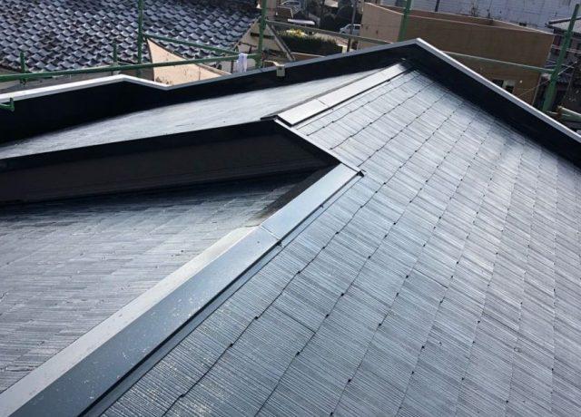 【宮崎県宮崎市】太田にある肌色の住宅で屋根塗装の下準備をおこないました!上塗り