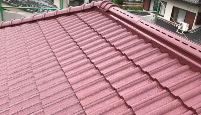 【宮崎県宮崎市】清武町加納甲にあるモニエル瓦の住宅で屋根塗装をしていきます屋根上塗り_1_確定