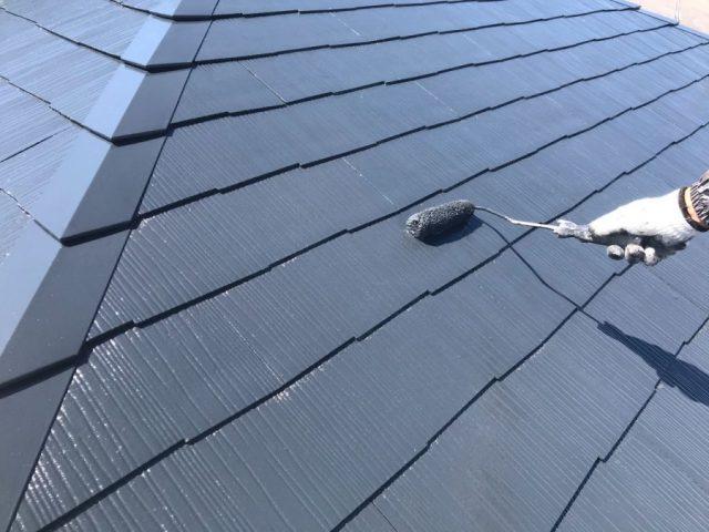 【宮崎県宮崎市】跡江にある39坪の住宅で119平方メートルのコロニアル屋根と雨樋・軒天を塗装します!屋根上塗り_1_確定