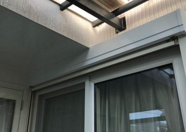 【宮崎県宮崎市】清武町にあるガルバリウム鋼板屋根の住宅で黒色に屋根を塗装しました!雨戸上塗り_1_確定