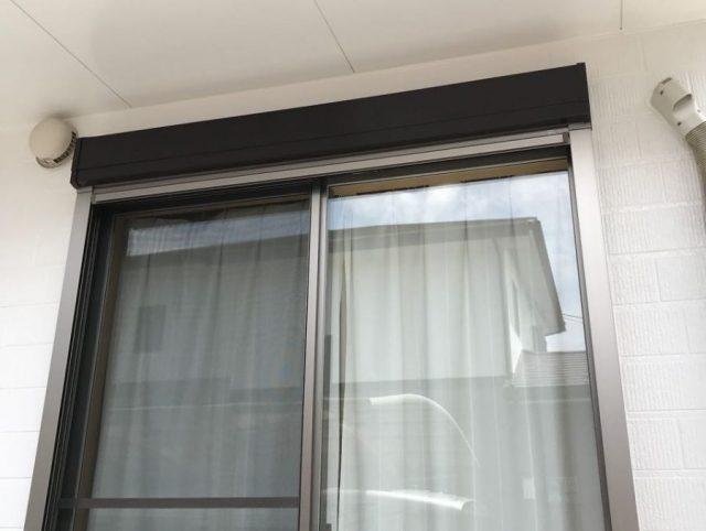 【宮崎県宮崎市】清武町にある41坪の住宅で屋根をセミフロンルーフ(コーヒーブラウン)で塗装していきます!雨戸上塗り_1_確定